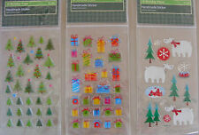 3 packs of Very Cute Christmas Scrap Booking  Sticker Embellishments (X-96)