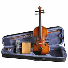 Acoustic electric violin with EQ, 4 strings + FOAMED CASE+BOW+ROSIN VE102B