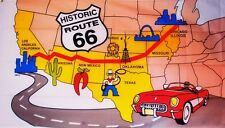 ROUTE 66 USA AMERICA AMERICAN HIGHWAY 5 X 3 FEET FLAG polyester fabric