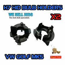 VW Golf Jetta MK5 TOURAN HID H7 Bulb Holder Adaptors  GT TDI GTI SE XENON SPLIT