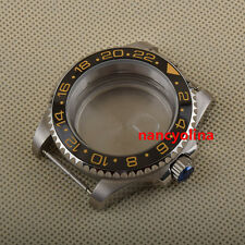 40mm sapphire glass black ceramic bezel Watch Case Fit ETA 2824 2836 Movement 05