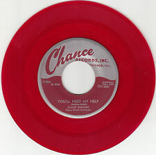 ELAINE RODGERS - Chance 3001 - You'll Need My Help - red wax - '55 BOPPER 45 VG+