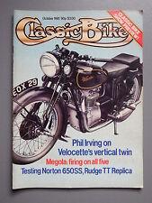 R&L Mag: Classic Bike 1981 October, Rudge TT Rep/Megola/Norton 650SS/Hesketh