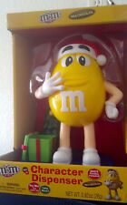 2016 M&M'S YELLOW CHARACTER MUSICAL CHRISTMAS CANDY DISPENSER, M&M, M & M