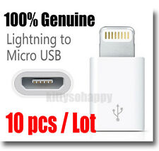 10 pcs Genuine Original Lightning to Micro USB Adapter for Apple iPhone 5 6 7 S