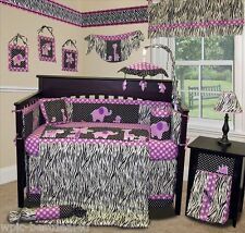 Baby Boutique - Animal Planet (Purple) - 13 pcs Crib Nursery Bedding Set