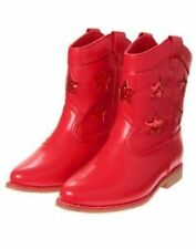 NEW Gymboree Red, White & Cute Glitter Stars Girls Toddler Baby Cowgirl Boots 6