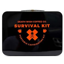 DEATH WISH COFFEE CO. SURVIVAL CAMPING KIT LTD EDITION MUG CUP SET AND BREWER **