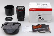 【AB Exc+】 Canon EF 135mm f/2 L USM AF Lens w/Box Hood From JAPAN #2727