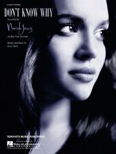 Don't Know Why Sheet Music Easy Piano Norah Jones NEW 000110135