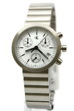 New Swiss Calvin Klein Chronograph Steel Date Women Watch 31mm K2191.12 $290