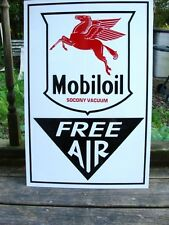 NEW!EARLY40'S-50'S STYLE MOBILOIL/SOCONY VACUUM/STANDARD FREE AIR DEALER SIGN/AD