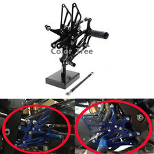 For YAMAHA R1 2004 2005 2006 FXCNC Black Adjustable Rearset Footpegs Rear Set