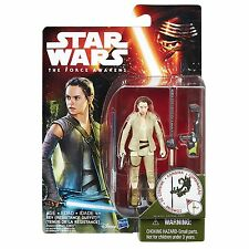 """STAR WARS The Force Awakens Rey (Resistance Outfit) 3.75"""" Action Figure MOC NEW"""