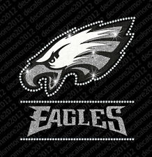 NFL - Philadelphia Eagles Bling - Iron-on Glitter Vinyl & Rhinestone Transfer