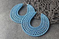 Handmade Crochet Orecchini a cerchio 70mm Orecchini Con Perline Stile Zingara Boho gioielli