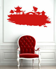 China Pagoda Oriental Decor East  Mural  Wall Art Decor Vinyl Sticker z581