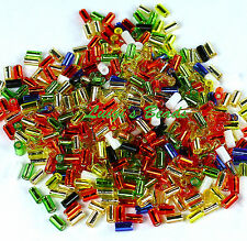 15g Masquerade Mix #BM70-TOHO Japanese Bugle Glass Seed Beads Size 1