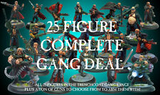 Heresy Miniatures Sci-Fi Trenchcoat Warriors Complete Gang 25 Figure Deal!