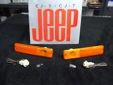 Jeep CJ side marker lens amber, Jeep CJ side marker light amber, CJ Laredo