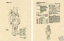 NASA APOLLO SPACE SUIT US Patent Art Print READY TO FRAME! 1973 Pressure Moon