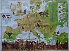 Map CELTIC EUROPE Ireland Scotland Wales Gaul Brittany Tribes Halloween Culture