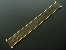 BEAUTIFUL Adjustable from 17mm to 22mm Chocolate Metal/Leather Watch Strap/Band