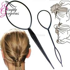 NEW Plastic Topsy Tail Hair Braid Ponytail Styling Maker Clip Tool 2 Pieces A86