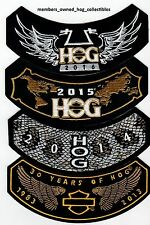 2013, 2014, 2015, 2016  4 patch set HOG Patches HARLEY OWNERS GROUP HD