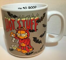 1978 GARFIELD the CAT Ceramic  HOT STUFF Devil Bats Coffee Mug 12oz