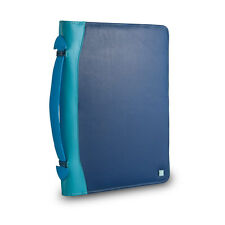 DuDu Cartella portadocumenti A4 in pelle BLU multicolore e porta iPad tablet