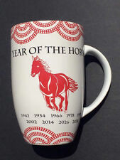 Coventry Chinese Zodiac Year of The HORSE Latte Coffee Mug 20-oz Ceramic Red