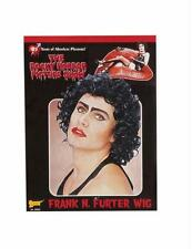 ROCKY HORROR FRANK N FURTER BLACK CURLY WIG COSTUME DRESS FM55025