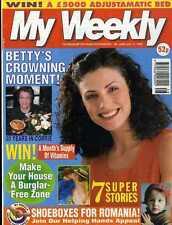 MY WEEKLY MAGAZINE 17/7/1999 KNITTING PATTERN TOYS TO MAKE MONKEY, PANDA, MOUSE