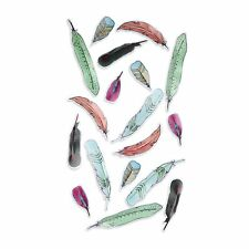 Umbra Feather Wall Decor, ASSORTED Decal Sticker Vinyl Art Colorful Design Home