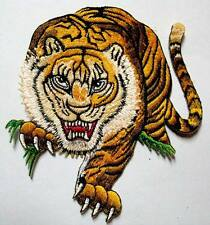 TIGRIS TIGER PANTHERA HUNTING BIKER Embroidered Iron on Patch Free Shipping