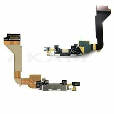 Charging Dock Port Connector Black Flex USB Cable Mic Replacement iPhone 4 4G