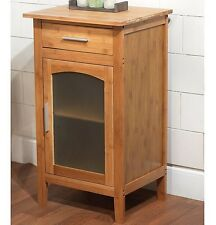Bathroom Floor Cabinet Bamboo Eco Storage Linen Stand Wood Contemporary Brown