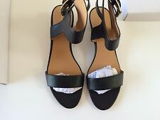 Nine west ankle strap woman sandals size 9 Black
