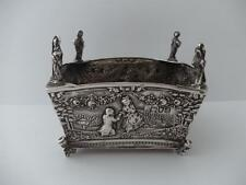 Beautiful & Unusual Solid Silver Apostle Bowl London 1899
