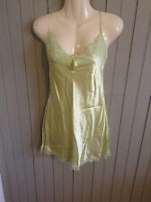 NEW TAGS sexy! Vintage Victoria's Secret shiny lt green medium nightie nightgown