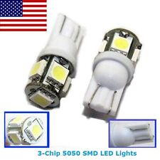 2 White T10 194 168 175 2825 Map Dome License Plate LED Lights for Buick