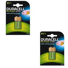 2 DURACELL 9v 170mah batterie ricaricabili NiMH E-Blocco dc1604 Radio Microfono