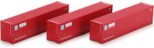 Athearn HO Scale 40' Corrugated Shipping Container Hyundai (Red/White/Blue) 3-Pk