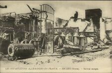 France WWI Destruction Ercheu Somme Postcard #3