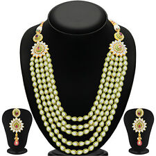 Sukkhi Gorgeous Five Strings Gold Plated Kundan Necklace Set(2247NKDV8190)