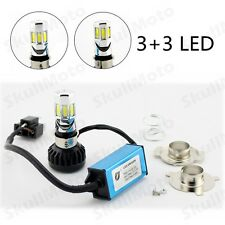 Universal Motorcycle Bike Car H4 Hi/Lo Beam 6LED Front Headlight HeadLamp Bulb