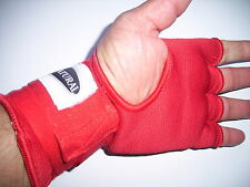 10 x pairs EZY HAND WRAP GLOVE  - RED