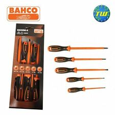 Bahco 820 5pc VDE Pozi & Slotted Insulated Electrical Screwdriver Set 820VDE-5