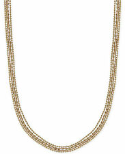 NWT Lucky Brand Gold-Tone Beaded Layer Necklace $49